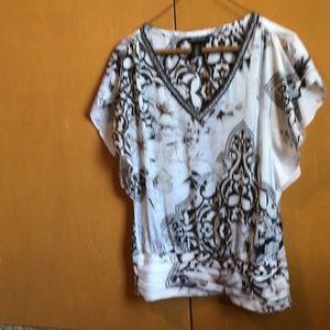 White House Black Market V-neck blouse XS